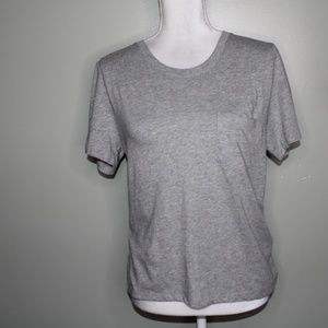 everlane women gray cotton pocket T-Shirt SZ S